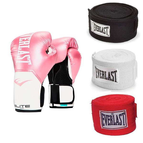 Blue Everlast Elite Pro Style Leather Training Boxing Gloves Size 14 Ounces