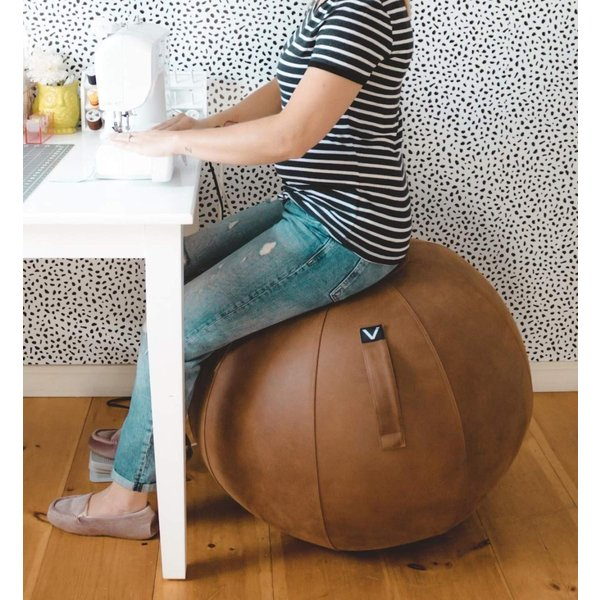 Lightweight Self-Standing Ergonomic Posture Activating Exercise Ball Solution with Handle /& Cover Vivora Luno Classroom /& Yoga Sitting Ball Chair for Office and Home