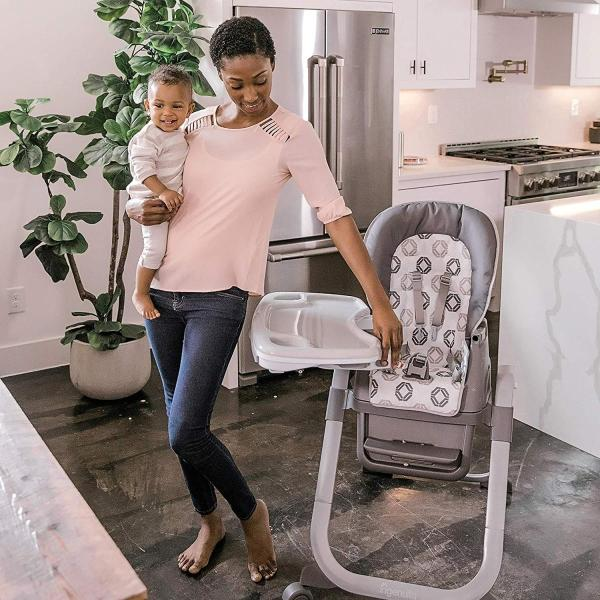 Ingenuity SmartServe 4-in-1 High Chair with Swing Out Tray ? Clayton ?|36hal01
