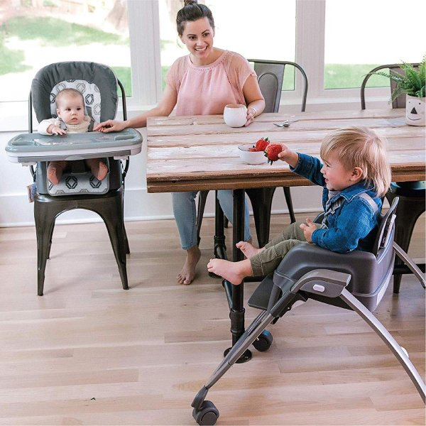 Ingenuity SmartServe 4-in-1 High Chair with Swing Out Tray ? Clayton ?|36hal01|04