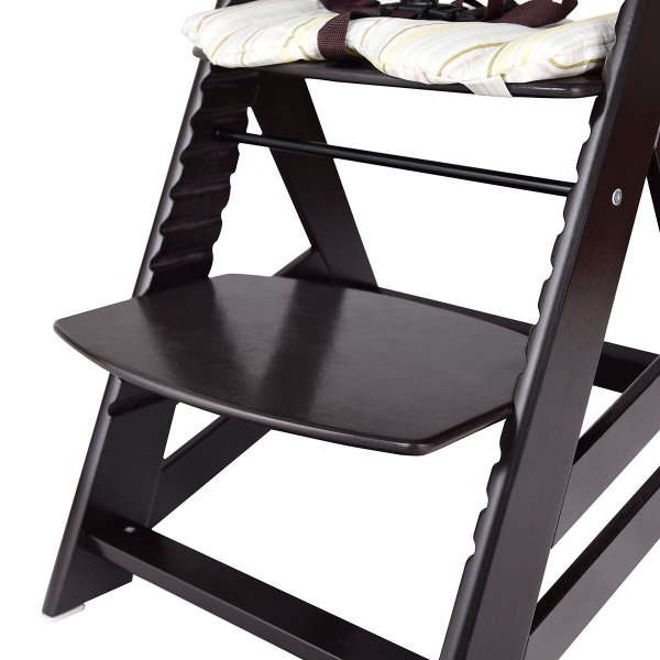 Costzon Wooden Highchair, Baby Dining Chair with Adjustable Height, Re 36hal01 10