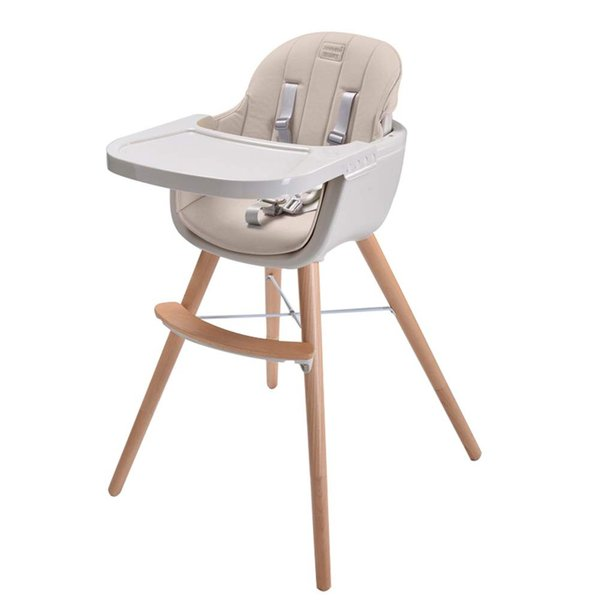 Ambermier Kids Wood High Chair, Perfect 3 in 1 Convertible Highchair w|36hal01|02