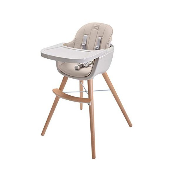 Ambermier Kids Wood High Chair, Perfect 3 in 1 Convertible Highchair w|36hal01|08