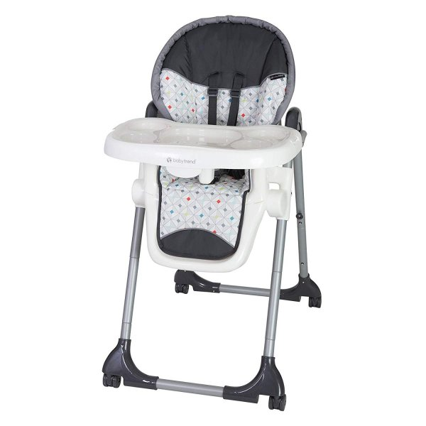 Baby Trend Deluxe 2 in 1 High Chair, Diamond Geo|36hal01|04