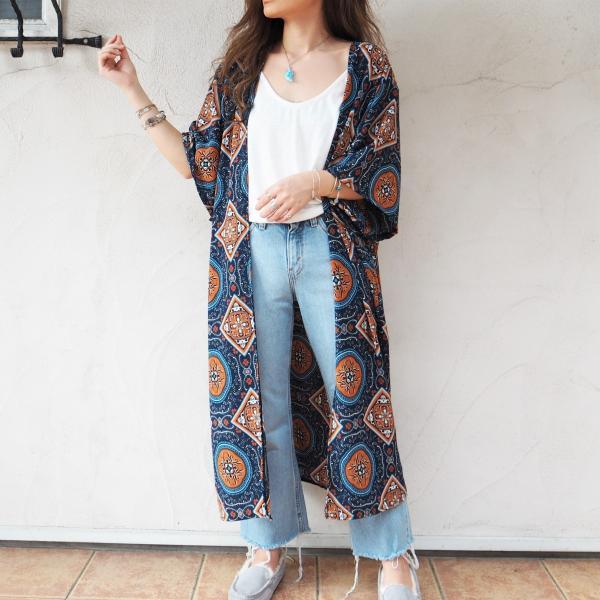 Chiffon Kimono Long Cardigan B《NVY》シフォン カーディガン 春 夏 大人気|38search