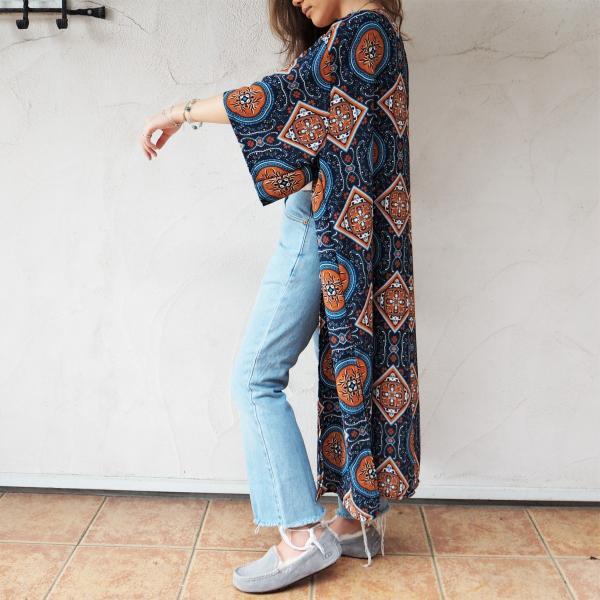 Chiffon Kimono Long Cardigan B《NVY》シフォン カーディガン 春 夏 大人気|38search|03