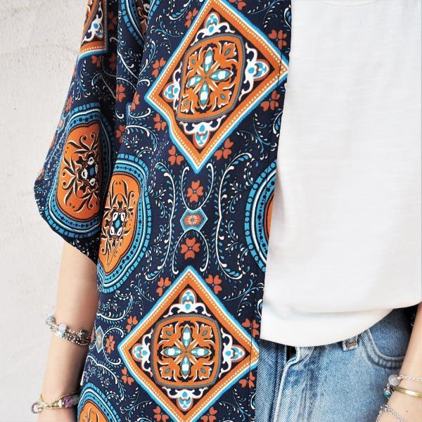 Chiffon Kimono Long Cardigan B《NVY》シフォン カーディガン 春 夏 大人気|38search|07