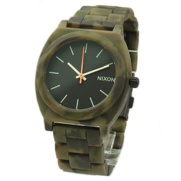 NIXON ニクソン メンズ腕時計 レディース腕時計 THE TIME TELLER タイムテラー アセテート マットブラック/カモ A3271428 A327-1428|39surprise