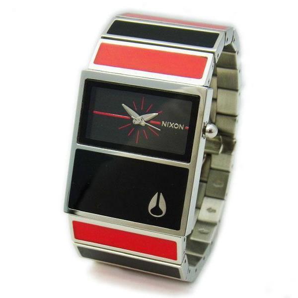 NIXON ニクソン レディース腕時計 THE CHALET シャーレ ブラック×レッド レディースウォッチ 女性用 A575008 A575-008 S|39surprise