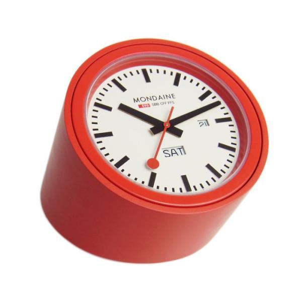 differently 07ef8 75309 モンディーン MONDAINE 置時計 ブラック/ホワイト A667.TUBE.30SBB スイス国鉄オフィシャル鉄道時計