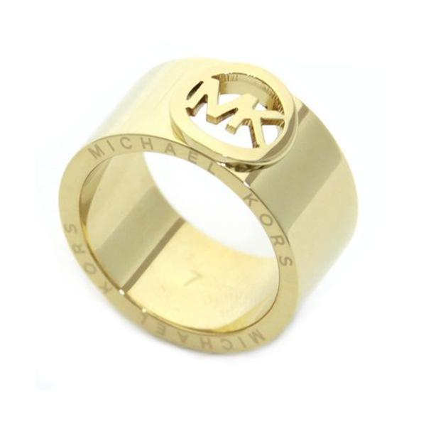 971f8f96caf0 マイケルコース MICHAEL KORS Fulton Gold-Tone Buckle Ring バックル ロゴ リング サイズ 7 ...