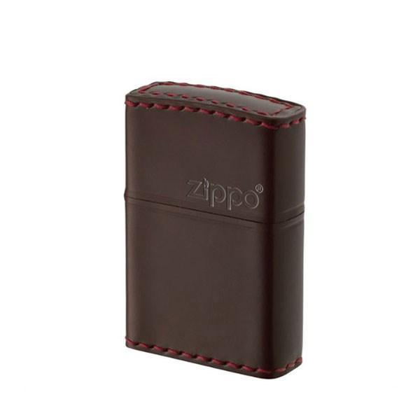 ZIPPO ジッポライター ジッポー ZIPPO CC-5 革巻き レザー 横ロゴ コードバン チョコ 本革 馬革 ブラウン