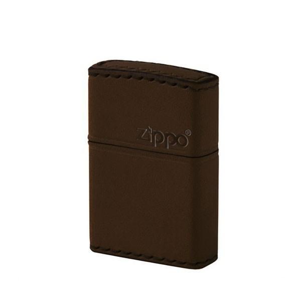 ZIPPO ジッポライター ジッポー ZIPPO DB-5 革巻き レザー 横ロゴ ブラウン