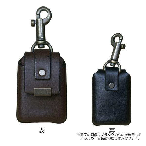 ZIPPO用 カワケース キーホルダー付 ブラウン 【ギフト/プレゼント/喫煙具/シンプル】