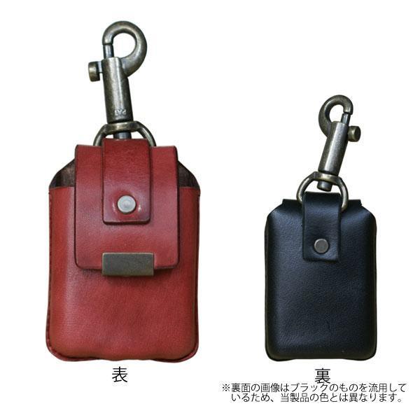 ZIPPO用 カワケース キーホルダー付 レッド 【ギフト/プレゼント/喫煙具/シンプル】