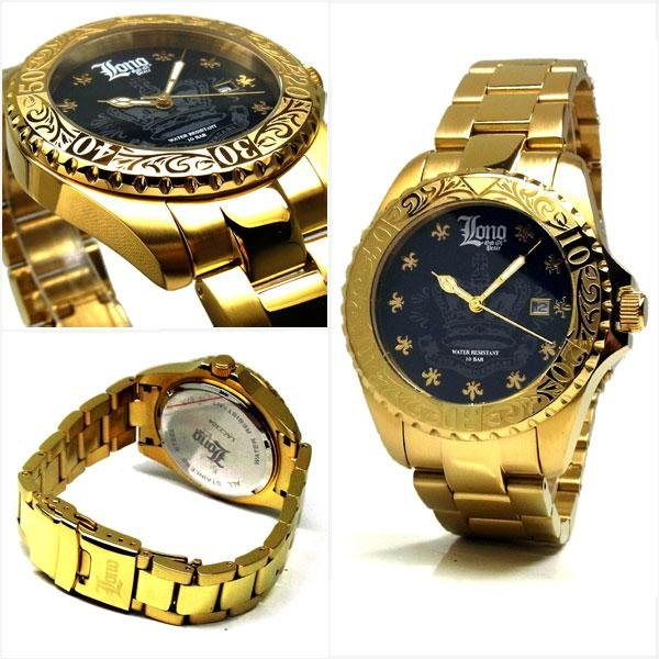 LONO ロノ ハワイアンジュエリー メンズ 10気圧 ダイバーウォッチ 腕時計 LAC230403|39surprise|02