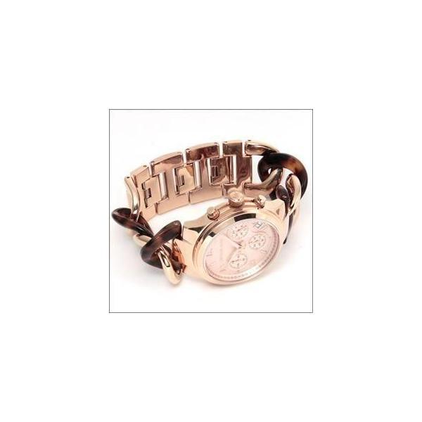 bb67f8fa2a0a ... マイケルコース 腕時計 レディース MICHAEL KORS ピンクゴールドカラー べっこう柄 チェーンブレスレットウオッチ ...