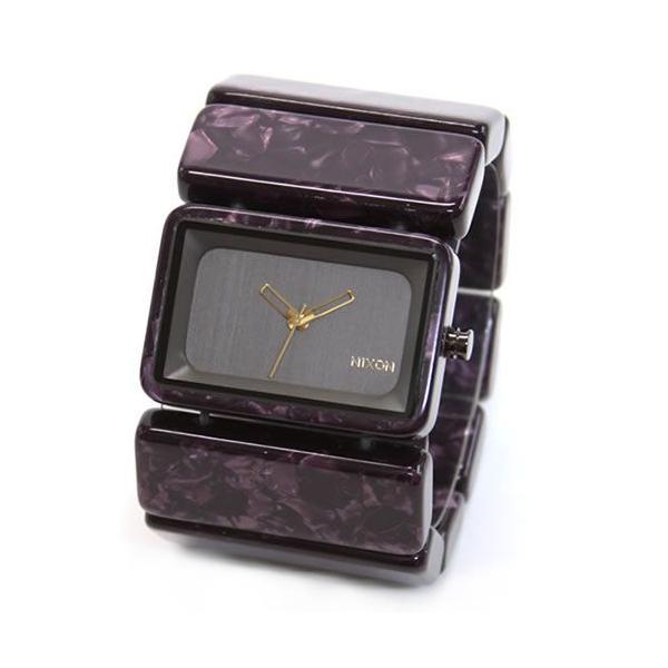 NIXON ニクソン 腕時計 レディース THE Vega ベガ ガンメタル×ベルベット パープル A7261345 A726-1345|39surprise