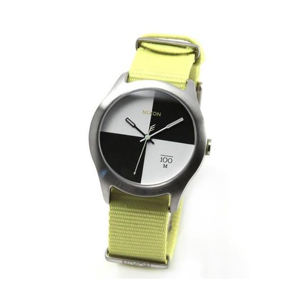 NIXON ニクソン 腕時計 メンズ レディース THE QUAD クアッド ネオンイエロー ナイロンベルト A3441262 A344-1262|39surprise