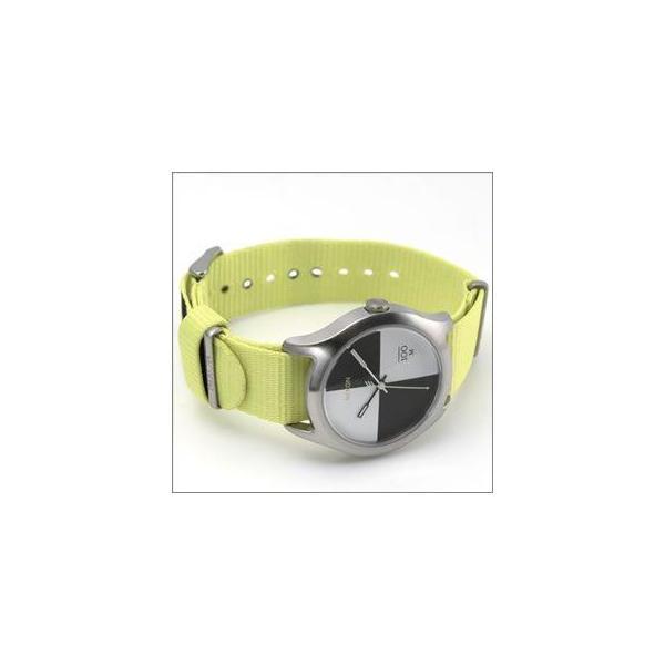NIXON ニクソン 腕時計 メンズ レディース THE QUAD クアッド ネオンイエロー ナイロンベルト A3441262 A344-1262|39surprise|02
