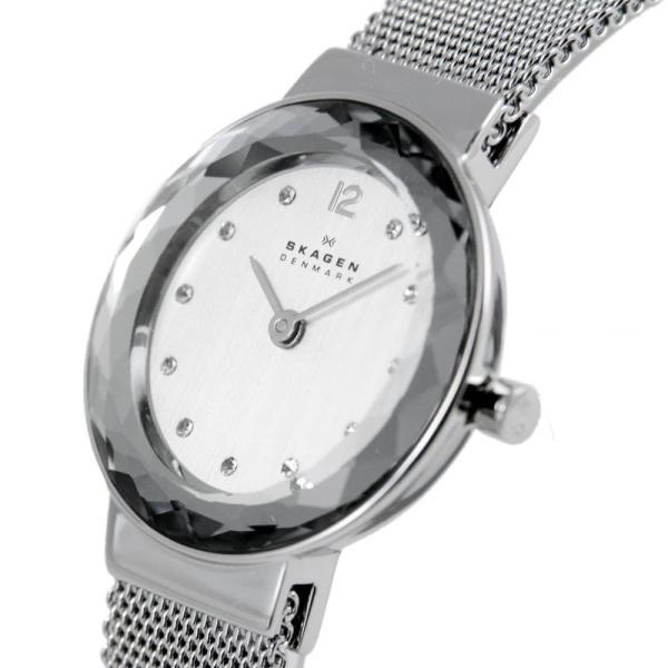 faf4c83ecf ... スカーゲン 腕時計 レディース SKAGEN 456SSS LEONARA ファセットカット ラインストーンインデックス メッシュストラップ|39surprise|  ...