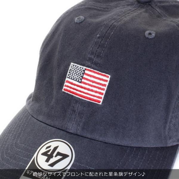 47BRAND フォーティーセブンブランド キャップ メンズ USA FLAG BASE RUNNER '47 CLEAN UP BSRNR198GWS 2018秋冬 ネイビー ワンサイズ 3direct 06