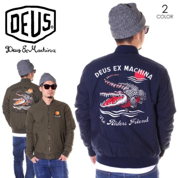 DEUS EX MACHINA デウスエクスマキナ ボンバージャケット メンズ ELIAS CROC BOMBER DMF86532|3direct