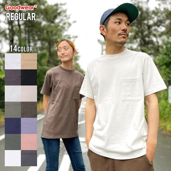 GOODWEAR Tシャツ メンズ USAコットン無地ポケットT 2W7-2500 2019春夏|3direct