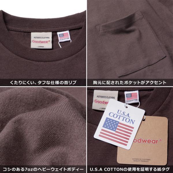 GOODWEAR Tシャツ メンズ USAコットン無地ポケットT 2W7-2500 2019春夏|3direct|08