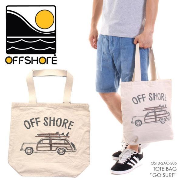 OFFSHORE トートバッグ TOTE BAG GO SURF OS18-2AC-S05 2018夏 ナチュラル ワンサイズ|3direct