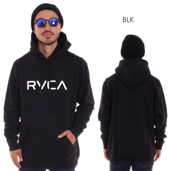 RVCA ルーカ パーカー メンズ BIG RVCA PULL AI042-014 2018秋冬 ブラック/ブルー/カモフラージュ/パープル/グレー/イエロー S/M/L|3direct|02