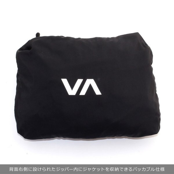 RVCA ルーカ アウター メンズ AXE PACKABLE AI042-751 2018秋冬 ブラック/グリーン S/M/L/XL|3direct|13