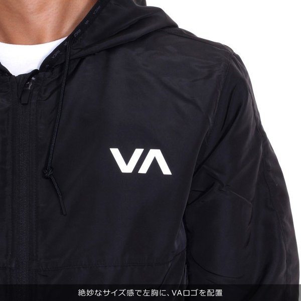 RVCA ルーカ アウター メンズ AXE PACKABLE AI042-751 2018秋冬 ブラック/グリーン S/M/L/XL|3direct|06