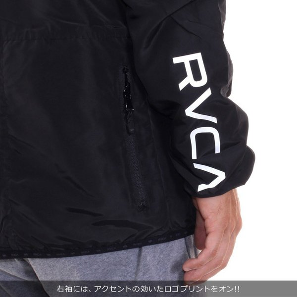 RVCA ルーカ アウター メンズ AXE PACKABLE AI042-751 2018秋冬 ブラック/グリーン S/M/L/XL|3direct|07