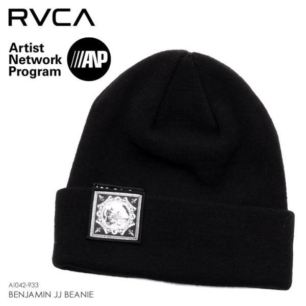 RVCA ルーカ ビーニー メンズ BENJAMIN JJ BEANIE AI042-933 2018秋冬 ブラック ワンサイズ 3direct