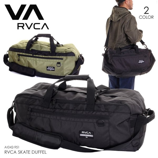 RVCA ルーカ ダッフルバッグ メンズ RVCA SKATE DUFFEL AI042-951 2018秋冬 ブラック/オリーブ ワンサイズ|3direct