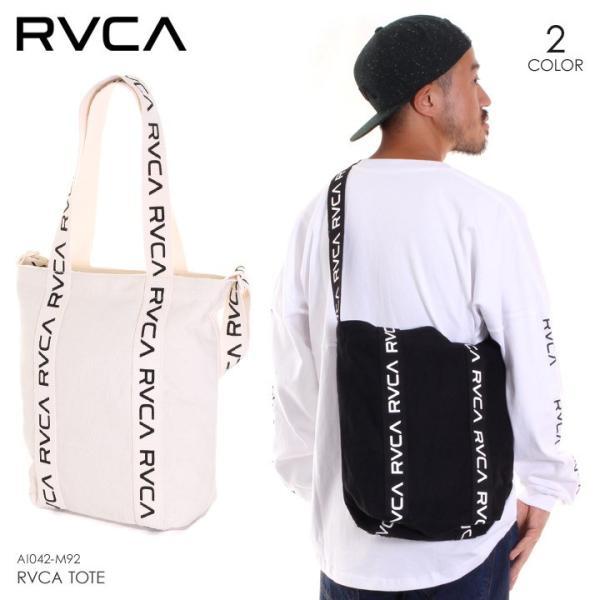 RVCA ルーカ ショルダーバッグ メンズ RVCA TOTE AI042-M92 2018秋冬 ホワイト/ブラック 19L 3direct