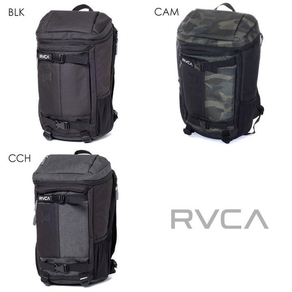 RVCA リュック メンズ VOYAGE SKATE BACKPACK AI041-962 2018春夏 ブラック/グリーン/グレー 16L|3direct|15