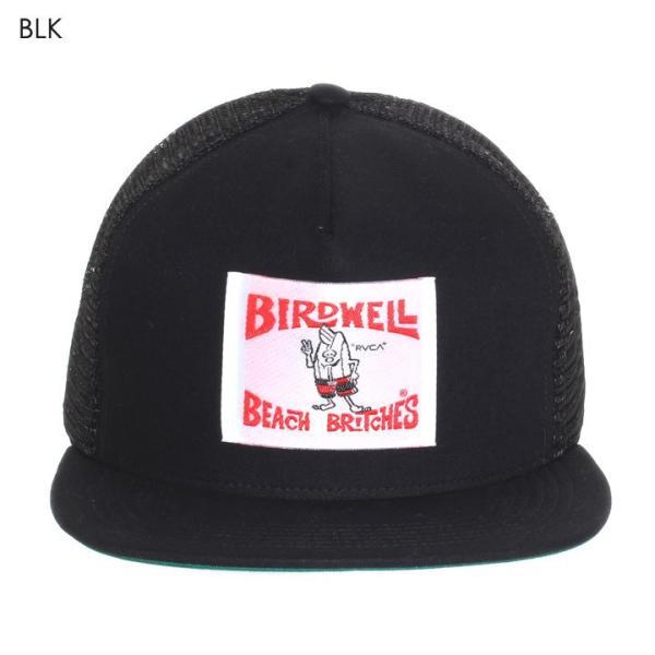RVCA x BIRDWELL キャップ メンズ BIRDIE TRUCKER CAP AI041-P96 2018夏 ブラック/ブルー ワンサイズ|3direct|02