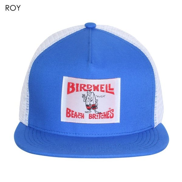 RVCA x BIRDWELL キャップ メンズ BIRDIE TRUCKER CAP AI041-P96 2018夏 ブラック/ブルー ワンサイズ|3direct|06