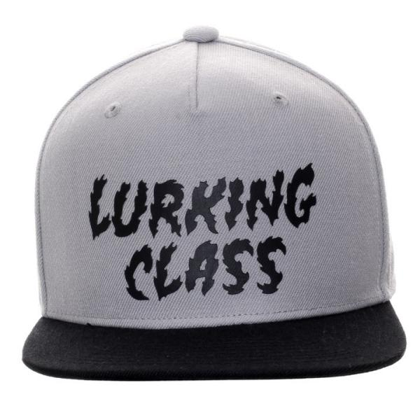 LURKING CLASS ラーキングクラス キャップ メンズ LOGO SNAPBACK ST18FC04 2018秋冬 グレー/ブラック ワンサイズ 3direct 02