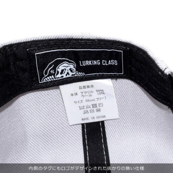 LURKING CLASS ラーキングクラス キャップ メンズ LOGO SNAPBACK ST18FC04 2018秋冬 グレー/ブラック ワンサイズ 3direct 09
