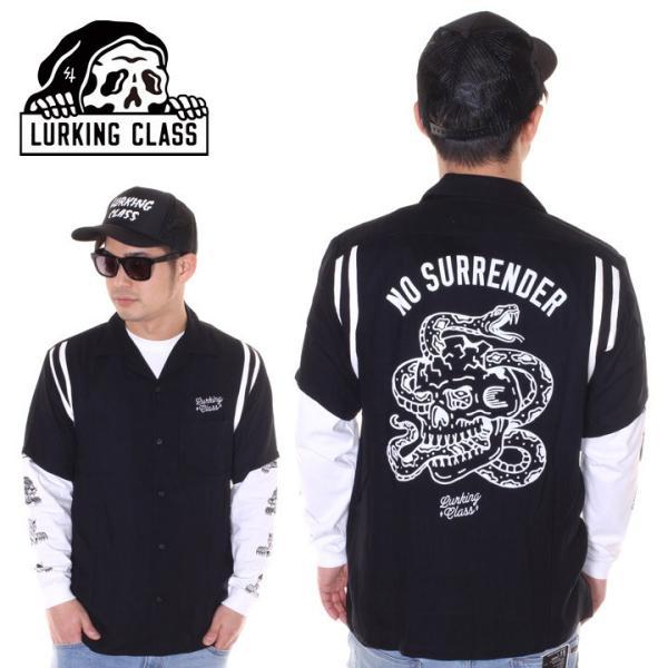 LURKING CLASS ラーキングクラス シャツ メンズ NO SURRENDER BOW ST19SU02 2019春夏 ブラック S/M/L|3direct