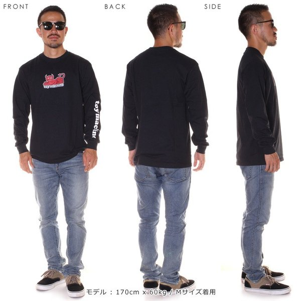 TOY MACHINE トイマシーン Tシャツ ロンT メンズ DAEMON CAT PRINT LONG TEE|3direct|10