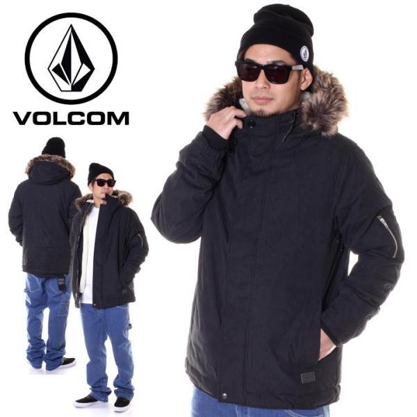 VOLCOM ボルコム ジャケット メンズ GOODMAN JACKET A1731707 2018秋冬 ブラック S/M/L 3direct