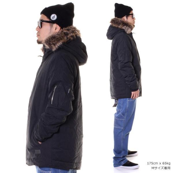 VOLCOM ボルコム ジャケット メンズ GOODMAN JACKET A1731707 2018秋冬 ブラック S/M/L 3direct 04