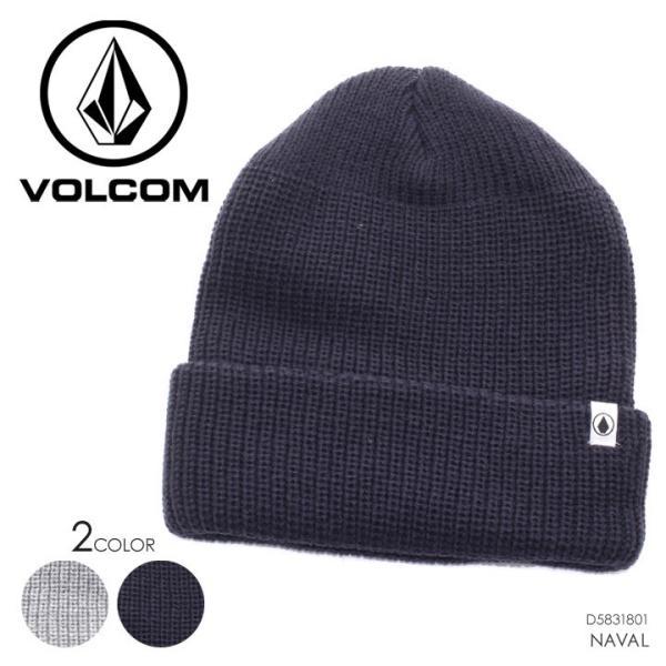 VOLCOM ボルコム ビーニー メンズ NAVAL D5831801 2018秋冬 ネイビー/グレー ワンサイズ|3direct