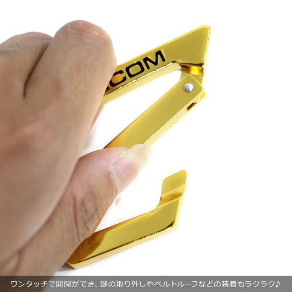 VOLCOM ボルコム カラビナ メンズ STONE KARABINER D67318JA 2018秋冬 ブラック/ホワイト/ラスタカラー/ゴールド ワンサイズ|3direct|09