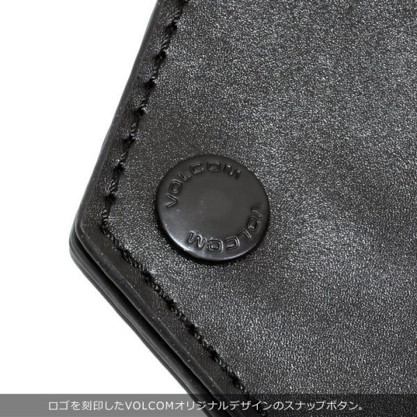 VOLCOM ボルコム コインケース メンズ STONE COIN CASE D67418JC 2018秋冬 ブラック/ブラウン ワンサイズ|3direct|05