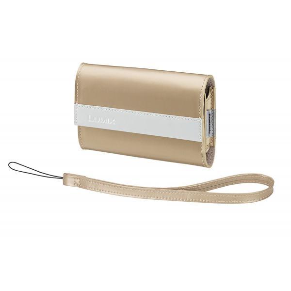 パナソニック Panasonic純正 LUMIXデジタルカメラソフトケース ストラップ付 ゴールド ホワイト DMW-CP9-N